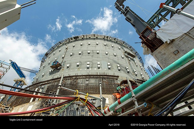 Vogtle Unit 3 containment vessel