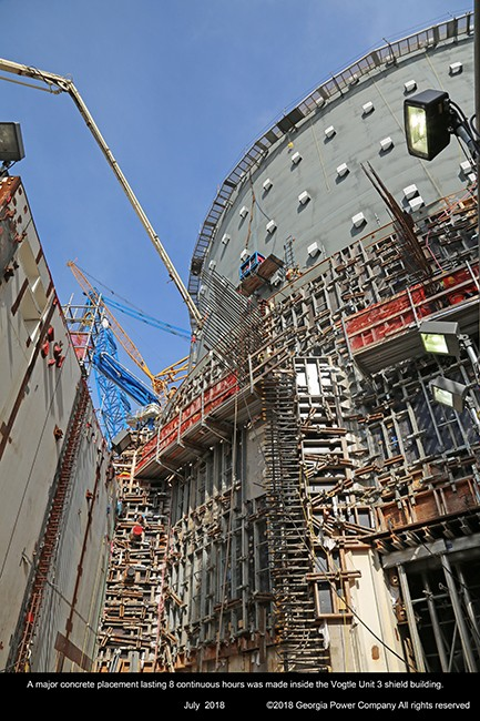 The 52,000-pound Q233 piping module is placed inside Vogtle Unit 4 containment.