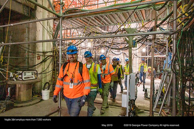 Vogtle 3&4 employs more than 7,000 workers