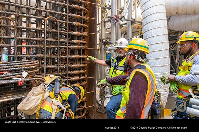 Vogtle 3&4 employs more than 8,000 workers