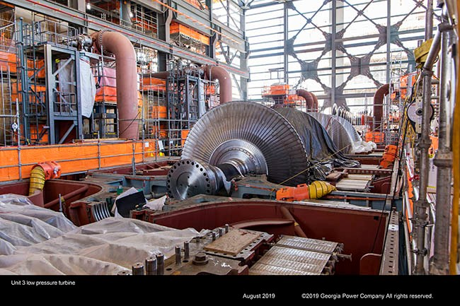 Unit 3 low pressure turbine