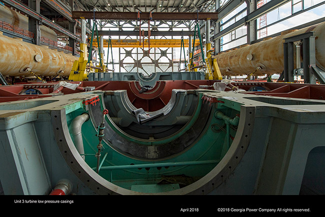 Unit 3 turbine low pressure casings