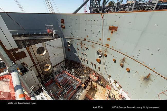 Vogtle Unit 4 containment vessel