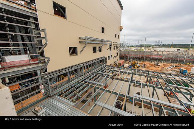 Vogtle Unit 3 shield building wall