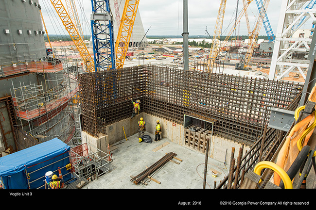 Vogtle Unit 3 containment and auxiliary building