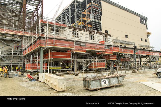 Vogtle Unit 3 annex building