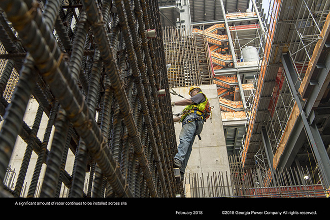 A significant amount of rebar continues to be installed across site