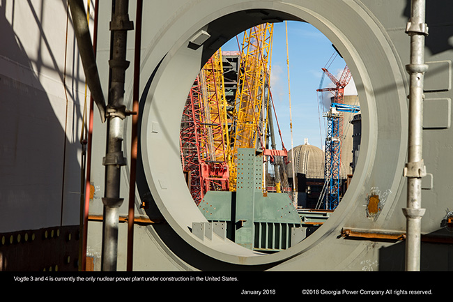 Vogtle 3 and 4 is currently the only nuclear power plant under construction in the United States