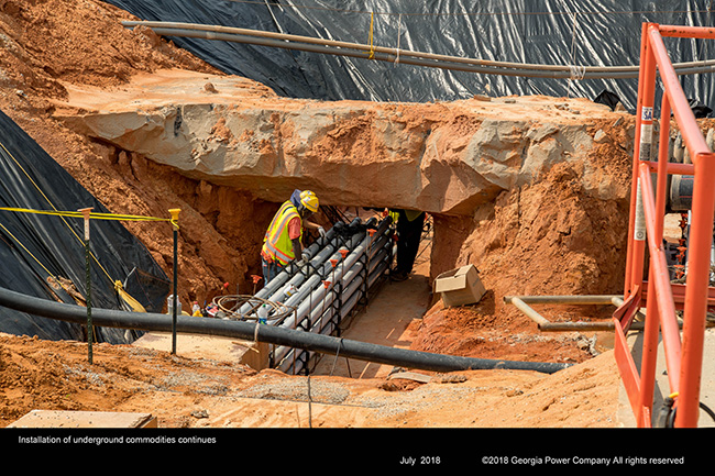 Installation of underground commodities continues