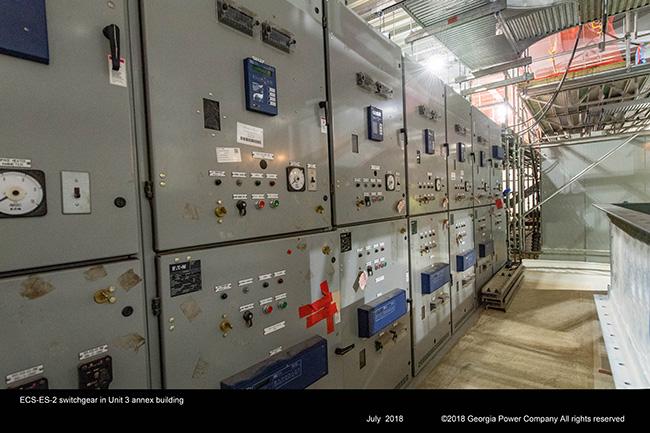 ECS-ES-2 switchgear in Unit 3 annex building