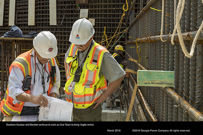 Southern Nuclear and Bechtel continue to work as One Team to bring Vogtle online