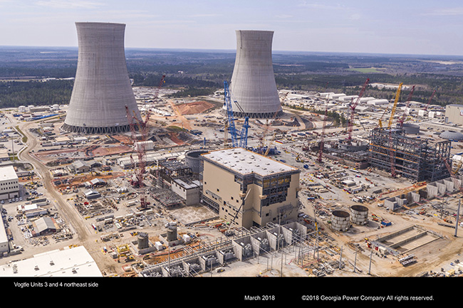 Vogtle Units 3 and 4 northeast side