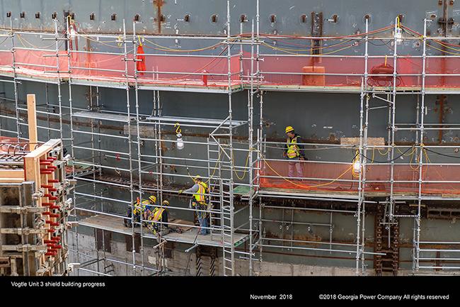 Vogtle Unit 3 shield building progress