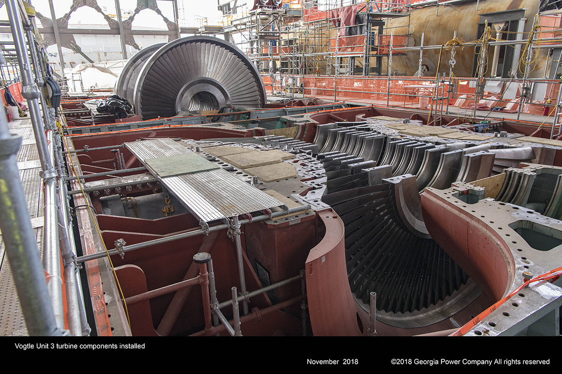 Vogtle Unit 3 turbine components installed