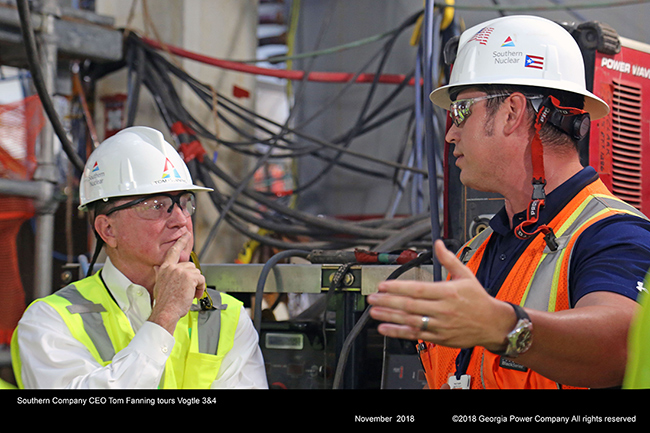 Southern Company CEO Tom Fanning tours Vogtle 3&4