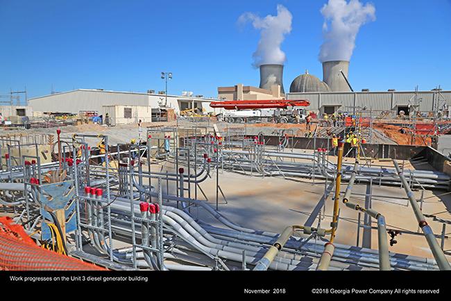 Work progresses on the Unit 3 diesel generator building