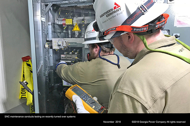 SNC maintenance conducts testing on recently turned over systems