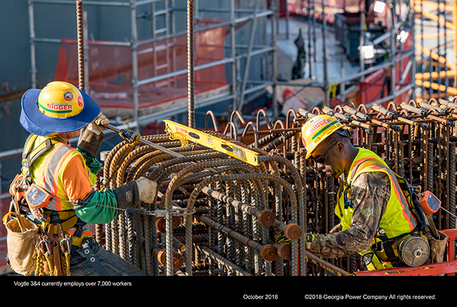 Vogtle 3&4 currently employs over 7,000 workers
