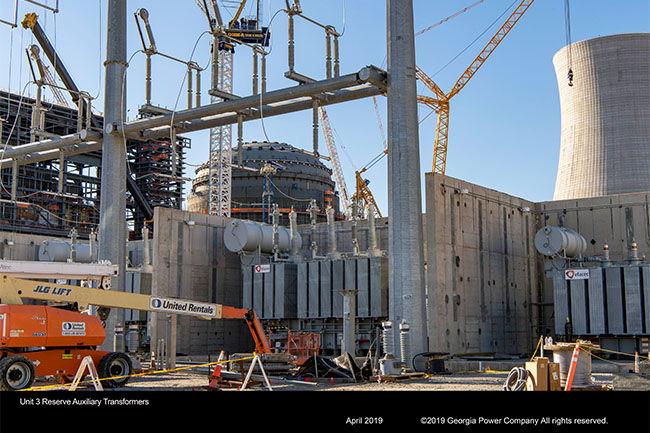 Vogtle Unit 3 Reserve Auxiliary Transformers