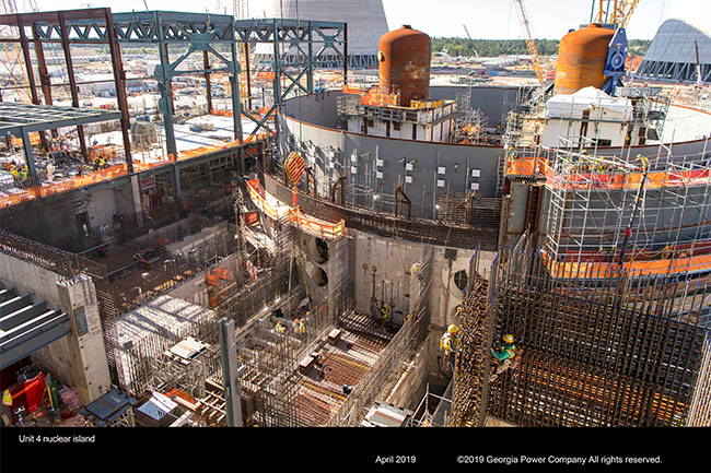 Vogtle Unit 4 nuclear island