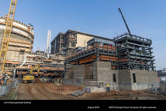Unit 3 desel generator building