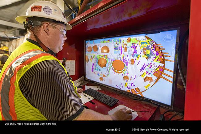 Use of 3-D model helps progress work in the field