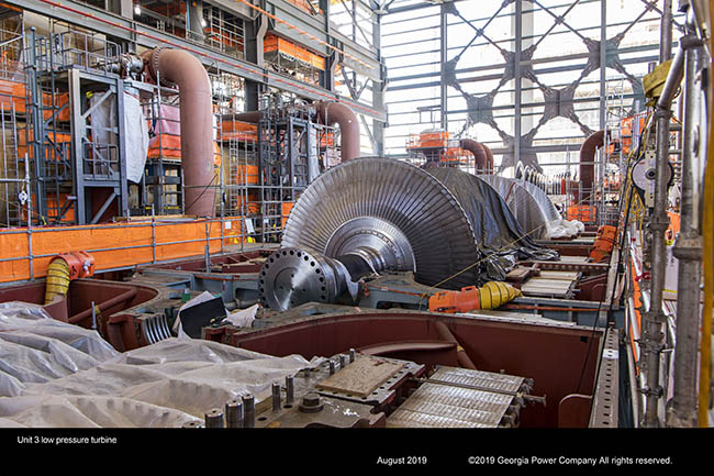 Unit 3 low pressure turbine
