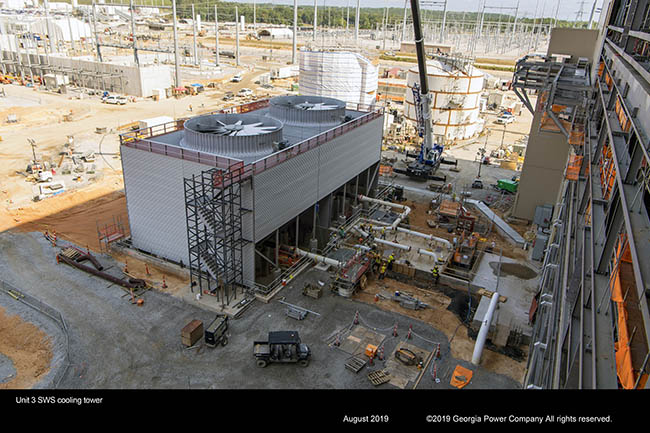 Unit 3 SWS cooling tower