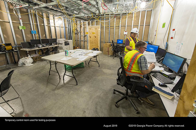 Temporary control room used for testing purposes