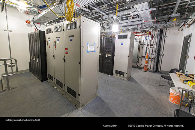 Unit 3 systems turned over to SNC