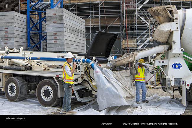 Unit 4 concrete pour