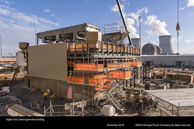 Vogtle Unit 3 desel generator building