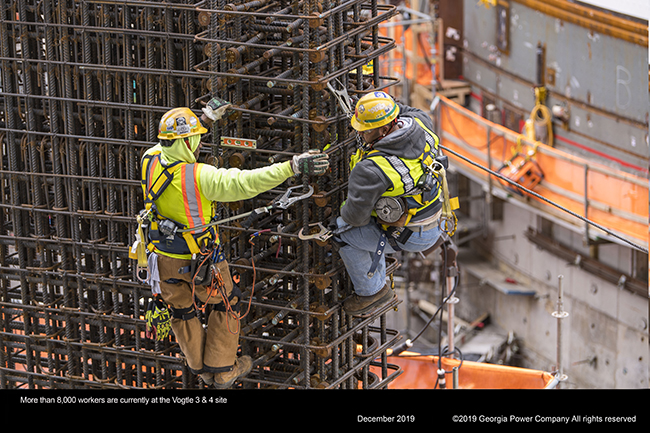 More than 8,000 workers are currently at the vogtle 3 & 4 site