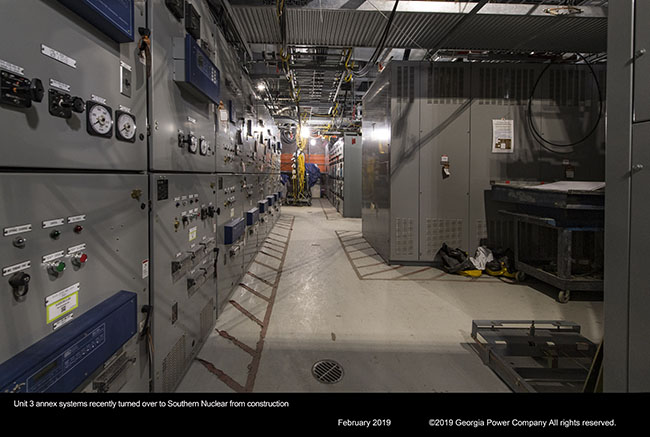 Unit 3 annex systems recently turned over to Southern Nuclear from construction