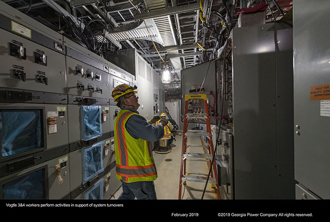 Vogtle 3&4 workers perform activities in support of system turnovers