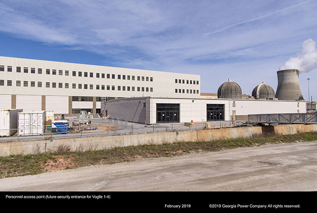 Personnel access point (future security entrance for Vogtle 1-4)