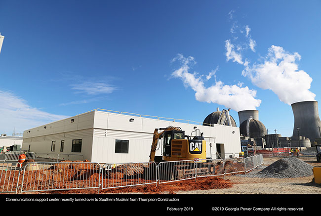 Communications support center recently turned over to Southern Nuclear from Thompson Construction