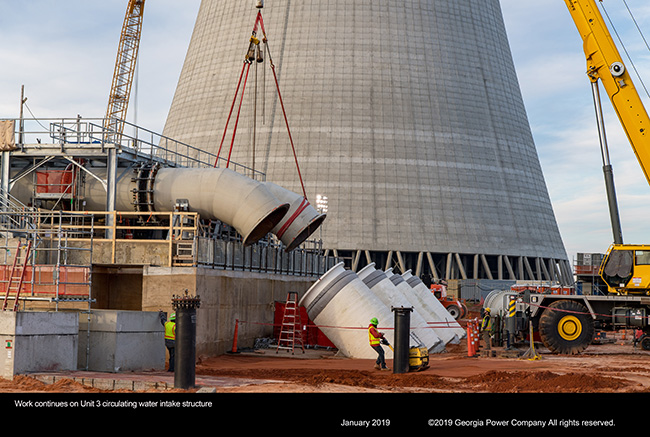 Work continues on Unit 3 circulating water intake structure