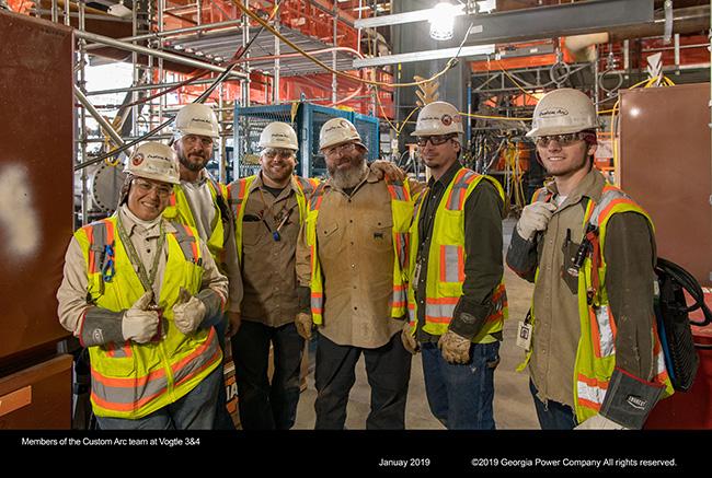 Members of the Custom Arc team at Vogtle 3&4