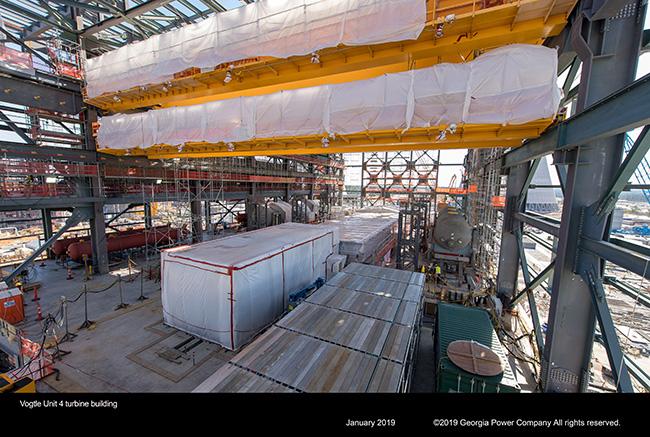 Vogtle Unit 4 turbine building