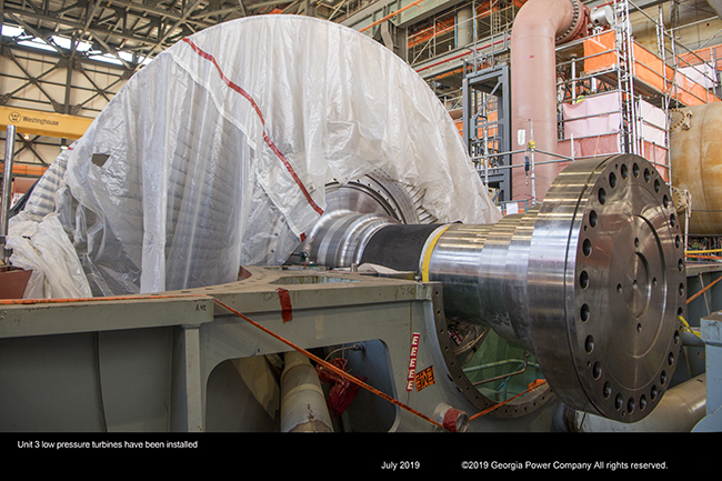 Unit 3 low pressure turbines have been installed