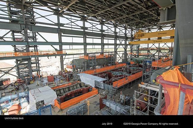 Unit 4 turbine deck