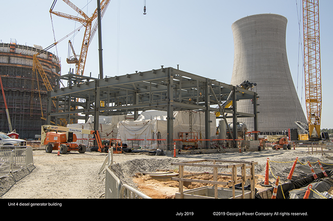 Unit 4 desel generator building