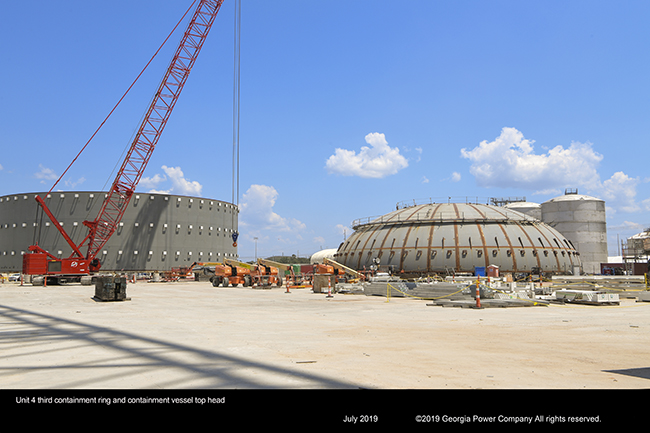 Unit 4 thrid containment ring and containment vessel top head