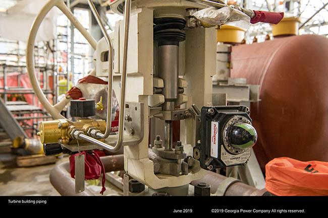 Turbine building piping