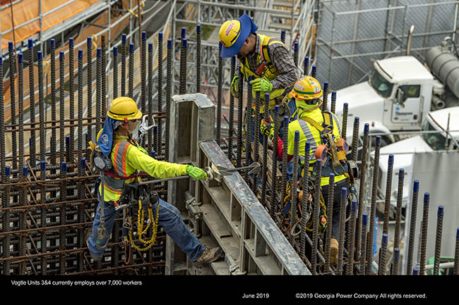 Vogtle Units 3&4 employs over 7,000 workers