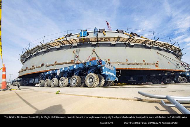 745 ton Containment vessel top for Vogtle Unit 3