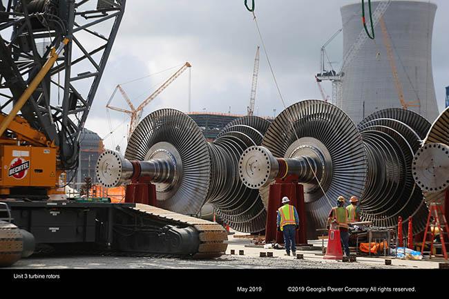 Unit 3 turbine rotors