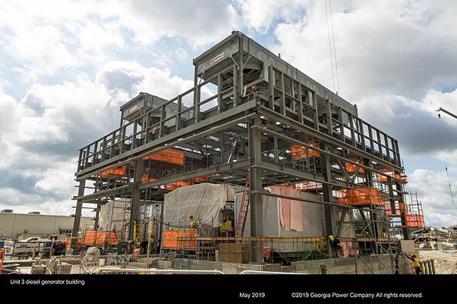 Unit 3 diesel generator building