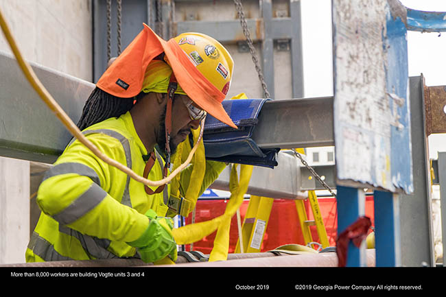 More than 8,000 workers are building vogtle units 3 and 4